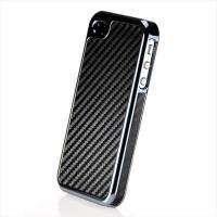 New Black Carbon Fiber Pattern Hard Case Cover for iPhone 4 4G 4S