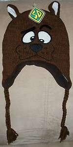 Scooby Doo Laplander Ski Knit Hat Cap Brand New Hanna Barbera Warner