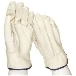 West Chester 990K Leather Glove, Shirred Elastic Wrist Cuff, 10.25