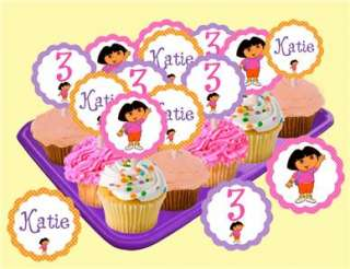 Dora the Explorer Themed Printable Party Favor Tags