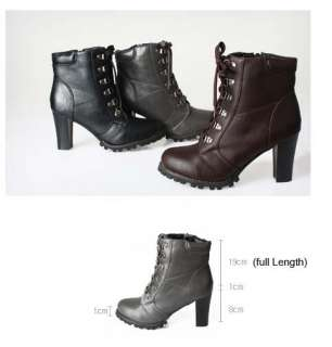 New Women Simple Ankle Fashion Boots Black/Brown/Gray Us Size