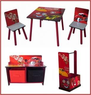 NEW Kidz Racing Cars Table Chair Bench Dresser Storage