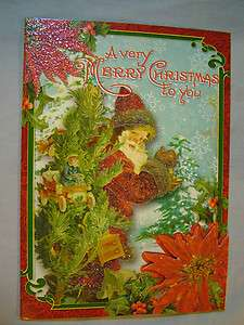 Pooch & Sweetheart Victorian Style Old World Santa Christmas 15 Cards
