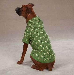 Dog Sweatshirt Hoodie Special Ops Army Coat Green Black hood hooded