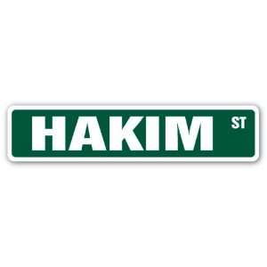 HAKIM Street Sign name kids childrens room door bedroom
