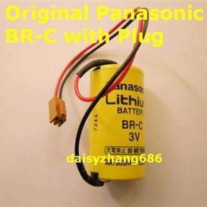 Panasonic BR C 3V PLC Lithium Battery with Plug Free Shipping