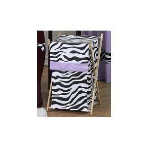 Baby and Kids Purple Funky Zebra Clothes Laundry Hamper Baby