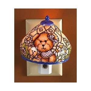 Boyds Bear Blossoms of Friendship Porcelain Night Light