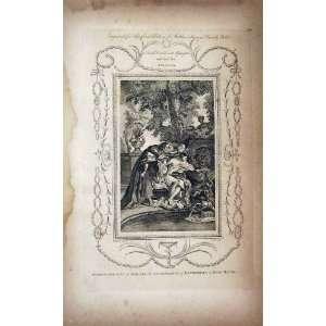 Matthew Henry Messenger Bathsheba King David C1750