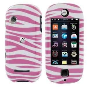 Motorola QA4 Evoke Pink Zebra Case Cover Protector (free