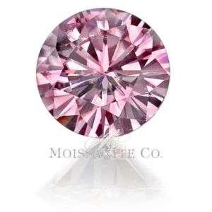 Certified .75 FANCY VIVID PINK MOISSANITE DIAMOND LOOSE