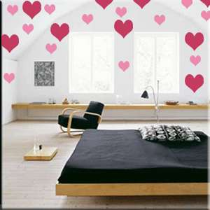 Heart Shape Vinyl Wall Decor Stickers Multiple Sizes