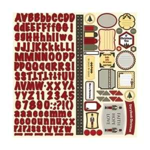 Nikki Sivils Happy Holly Days Cardstock Stickers 12X12; 6