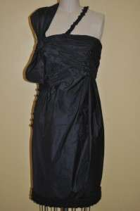 Exquisite Chanel 08A Silk Cocktail Dress 38 NEW RARE