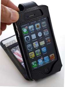 New Black Flip Wallet Card Leather Case for iPhone 4