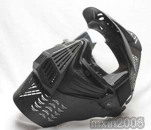 Black Paintball Full Face Padded Protective Mask /Nets