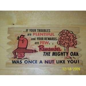 Plak Kard Sign PostcardIf your Troubles Are Plentiful