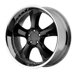 KMC KM131 22x9.5 Black Wheel / Rim 6x5.5 with a 12mm Offset and a 106