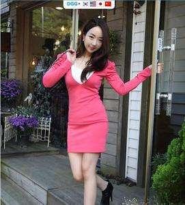 D461 New Korean style cotton sexy womens Top/dress