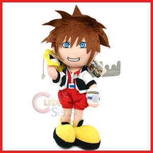 Kingdom Hearts Sora Plush w/ Mickey Mouse Blade & Crown