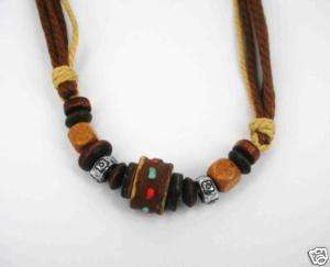Wild Tribe Beads Pendant c/w Cord Belt PBS5 Mix Color