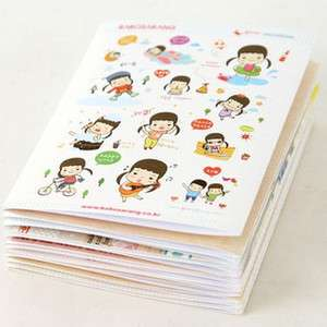 Lovely Girl Pattern Paster Sticker Decal Paper 24pcs