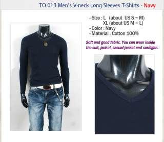 MEN SLIM FIT V NECK TOP TEE T SHIRT TO013