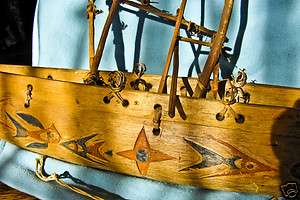 wood hand carved boat ship ethenic Papua New Guinea dated 1945