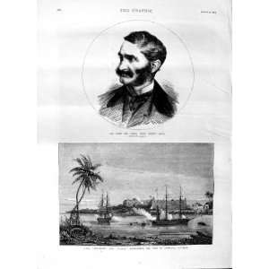 1875 SIR JAMES HOPE GRANT SHIP RIFLEMAN NASSAU ZANZIBAR