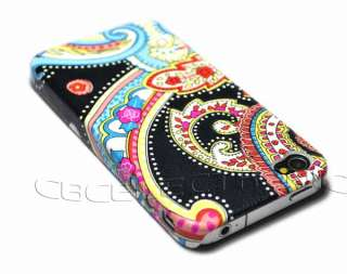 New Pink Indian Flower hard leather case PU back cover for iphone 4G