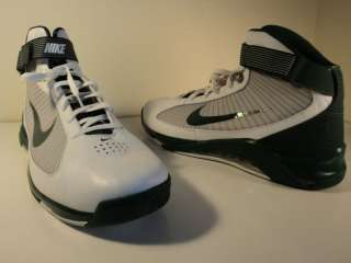 NEW NIKE AIR MAX BASKETBALL SHOES FLYWIRE WHITE GREEN