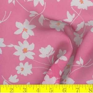 Flower Focus Hot Pink/White Fabric By The Yard Arts, Crafts & Sewing