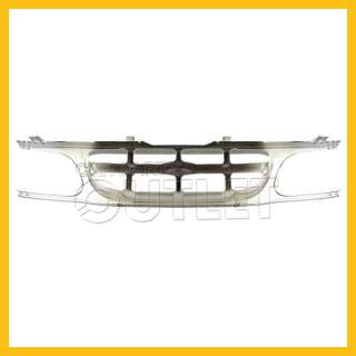 95 97 FORD EXPLORER CHROME FRAME SILVER GRAY GRILLE XLT