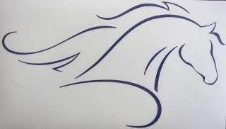 Sm Purple Unique Elegant Horse Outline Decal Sticker