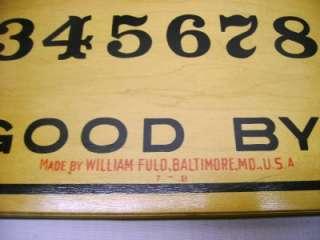 VINTAGE ANTIQUE MYSTIFYING ORACLE OUIJA BOARD WILLIAM FULD, BALTIMORE