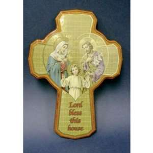 Lord Bless This House Holy Family Wood Cross 8 Home
