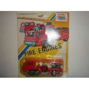 Vintage 1980s Marz Karz Aerial Ladder Fire Truck Red #8114