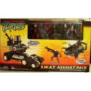 TMNT Teenage Mutant Ninja Turtles S.W.A.T. Assault Pack: Toys & Games