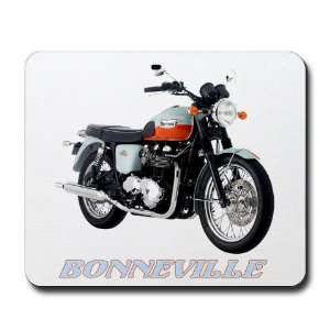 TRIUMPH BONNEVILLE Motorcycle Mousepad by CafePress