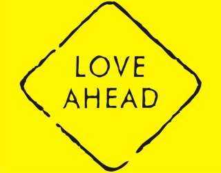 LOVE AHEAD Cool Valentines Day Road Sign Funny T Shirt
