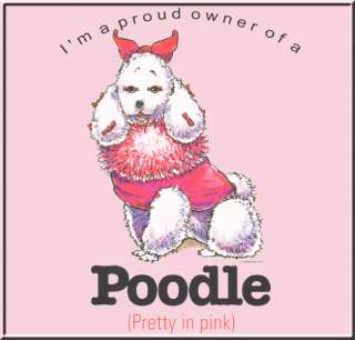 Funny Poodle In Pink Dog Breed Shirts S XL,2X,3X,4X,5X