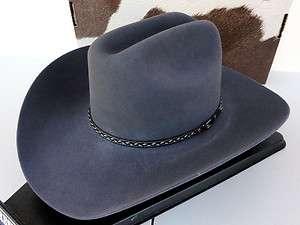 Resistol Cowboy Hat 4X Beaver Fur Granite Stone Mountain George Strait