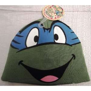 TEENAGE MUTANT NINJA TURTLES TMNT LEONARDO Blue Knit Beanie Hat Skull