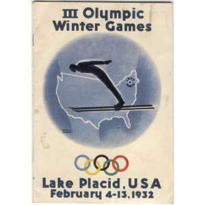 Winter Games. Lake Placid, USA February 4 13, 1932 III Olympic Winter