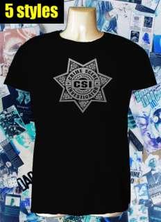 CSI las vegas badge t shirt crime scene LVPD 5 STYLES