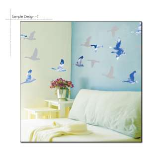 WILD GEESE Mural Art Vinyl Decor Wall Sticker Decals