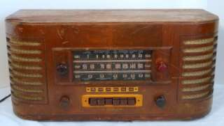 GENERAL ELECTRIC 22 WOOD CASE TUBE 3 BAND SHORT WAVE RADIO