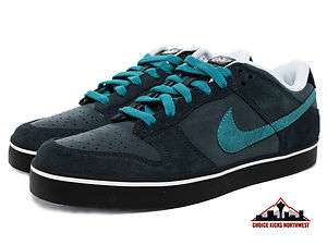 Nike 6.0 Dunk SE Charcol Green/Turqoise Low Top Mens Skate Shoe