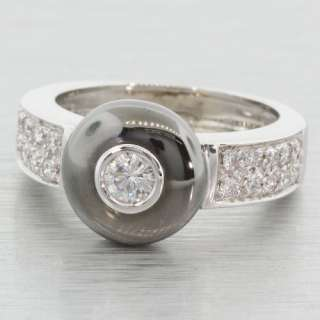 18K White Gold Ring With Diamonds by O.P.G Gioielli