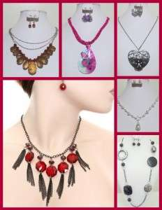50 PC COSTUME JEWELRY WOMEN & TEENS NECKLACES, EARRINGS, BRACELETS